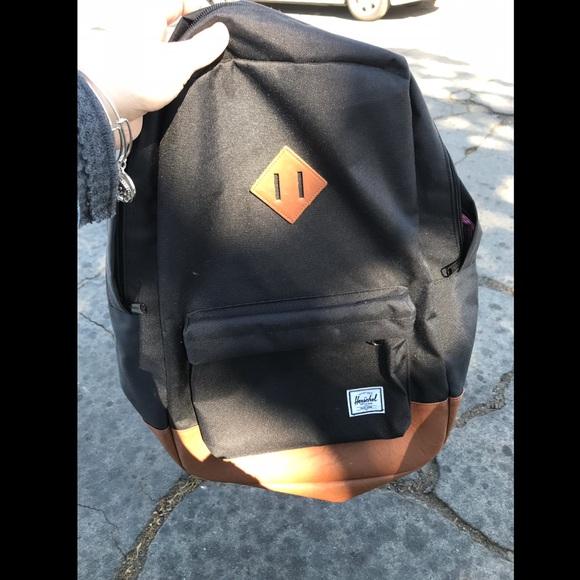 Herschel Supply Company Other - Herschel Black Tan Heritage Backpack 91d7d3ce5c227
